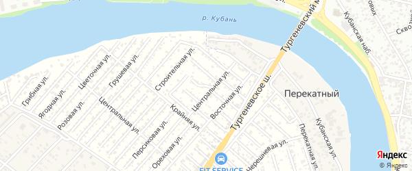 Балочная улица на карте садового некоммерческого товарищества Закубанские сады с номерами домов