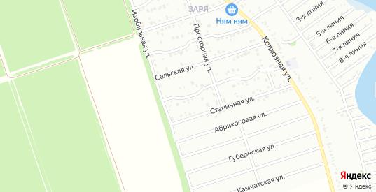 Изобильный 4-й переулок в микрорайоне Заря в Тимашевске с номерами домов на карте. Спутник и схема онлайн
