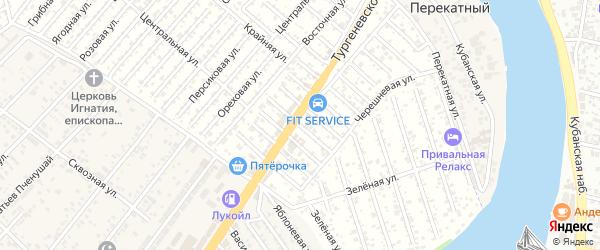 Малиновая улица на карте Восхода Адыгеи с номерами домов
