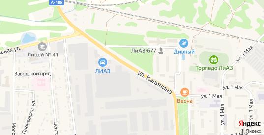 Улица Калинина в Ликино-Дулево с номерами домов на карте. Спутник и схема онлайн