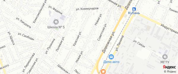 Новая улица на карте Яблоновского поселка Адыгеи с номерами домов