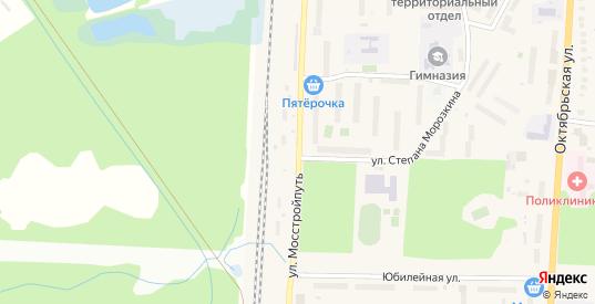 Улица Мостстройпуть в Ликино-Дулево с номерами домов на карте. Спутник и схема онлайн