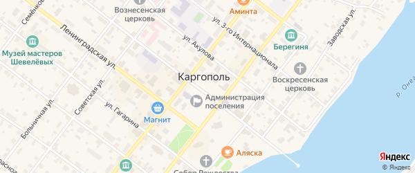 Ивановская площадь на карте Каргополя с номерами домов