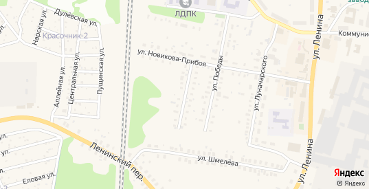 Красноармейская улица в Ликино-Дулево с номерами домов на карте. Спутник и схема онлайн