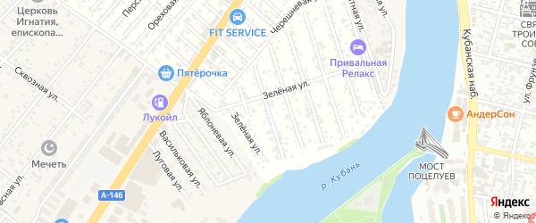 Пионовая улица на карте Водхозовец Адыгеи с номерами домов