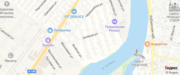 Дубковая улица на карте Водхозовец Адыгеи с номерами домов