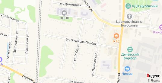 Улица Новикова-Прибоя в Ликино-Дулево с номерами домов на карте. Спутник и схема онлайн