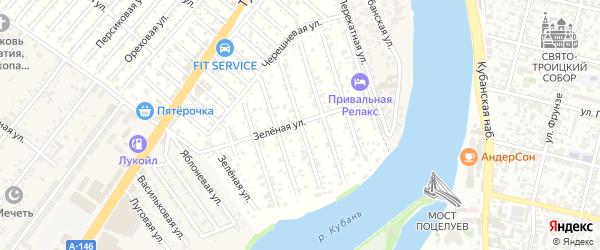 Сиреневая улица на карте садового некоммерческого товарищества Водхозовца с номерами домов