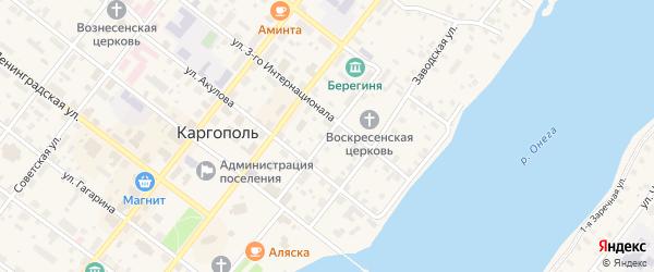 Улица Калинина на карте Каргополя с номерами домов