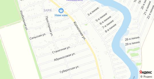 Урожайная улица в микрорайоне Заря в Тимашевске с номерами домов на карте. Спутник и схема онлайн