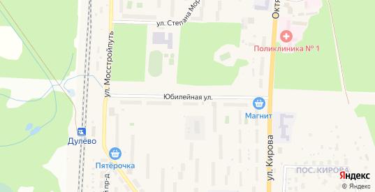 Юбилейная улица в Ликино-Дулево с номерами домов на карте. Спутник и схема онлайн