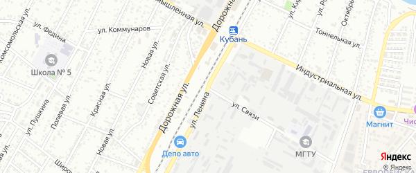 Улица Ленина на карте Яблоновского поселка Адыгеи с номерами домов