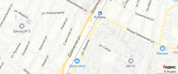 Улица Ленина на карте Яблоновского поселка с номерами домов