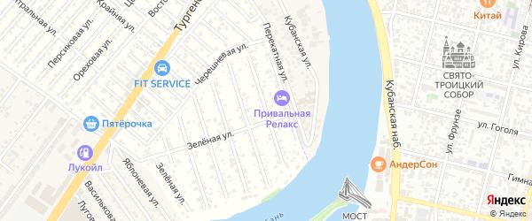 Жасминная улица на карте садового некоммерческого товарищества Водхозовца с номерами домов