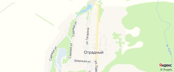 Улица Гагарина на карте Отрадного поселка Адыгеи с номерами домов