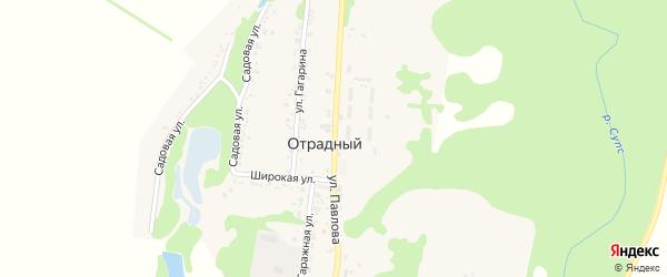 Улица Павлова на карте Отрадного поселка Адыгеи с номерами домов