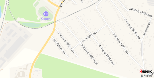 1905 года 5-й проезд в Ликино-Дулево с номерами домов на карте. Спутник и схема онлайн