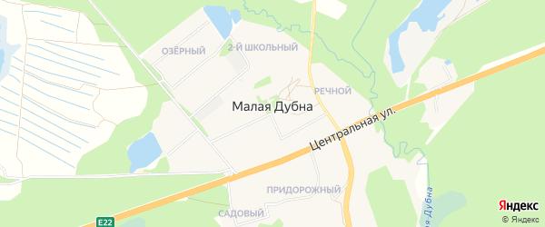 Карта деревни Малой Дубны (малодубенского с/п) города Орехово-Зуево в Московской области с улицами и номерами домов