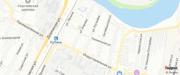 Тоннельная улица на карте Яблоновского поселка Адыгеи с номерами домов