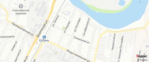 Улица Рогачева на карте Яблоновского поселка Адыгеи с номерами домов