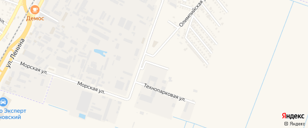 Складская улица на карте аула Тахтамукая Адыгеи с номерами домов