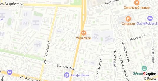 Улица им Тургенева в Краснодаре с номерами домов на карте. Спутник и схема онлайн