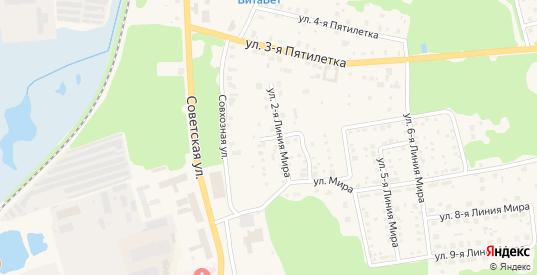 Улица Мира 1 Линия в Ликино-Дулево с номерами домов на карте. Спутник и схема онлайн