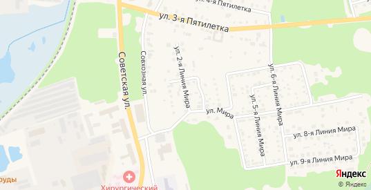 Улица Мира 2 Линия в Ликино-Дулево с номерами домов на карте. Спутник и схема онлайн