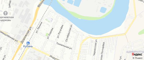 Нефтеперегонная улица на карте Яблоновского поселка Адыгеи с номерами домов
