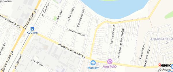 Восточная улица на карте Яблоновского поселка Адыгеи с номерами домов