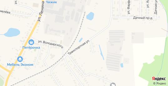 Транспортная улица в Ликино-Дулево с номерами домов на карте. Спутник и схема онлайн