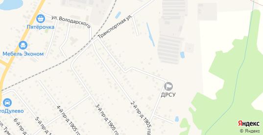 1905 года 1-й проезд в Ликино-Дулево с номерами домов на карте. Спутник и схема онлайн