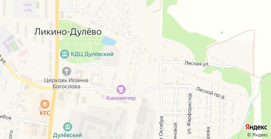 Коммунистический проезд в Ликино-Дулево с номерами домов на карте. Спутник и схема онлайн