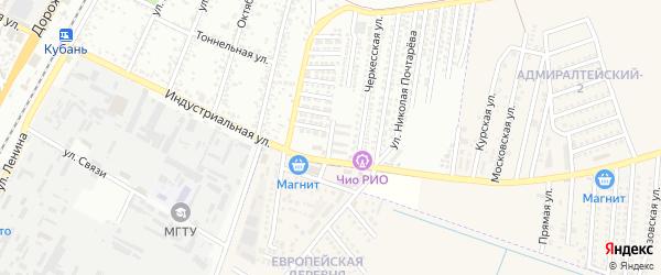 Депутатская улица на карте Яблоновского поселка Адыгеи с номерами домов