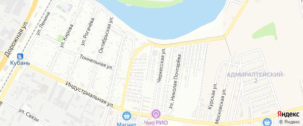 Улица им Ибрагима Салеховича Цей на карте Яблоновского поселка Адыгеи с номерами домов