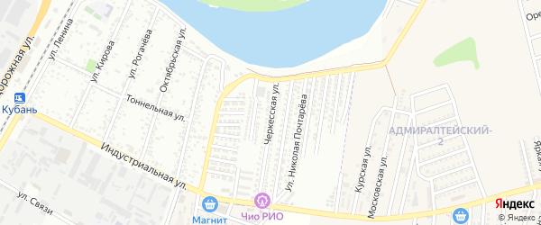 Черкесская улица на карте Яблоновского поселка с номерами домов