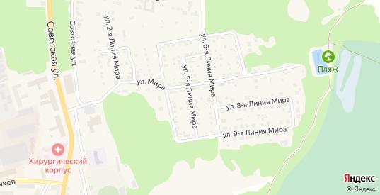 Улица Мира 5 Линия в Ликино-Дулево с номерами домов на карте. Спутник и схема онлайн