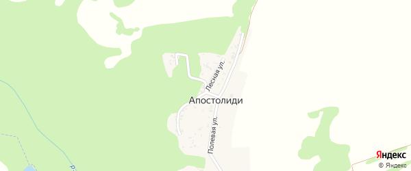 Лесная улица на карте хутора Апостолиди Адыгеи с номерами домов