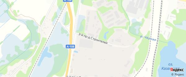 Строителей 3-й проезд на карте поселка Приозерья Московской области с номерами домов