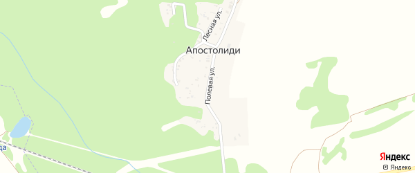 Полевая улица на карте хутора Апостолиди Адыгеи с номерами домов