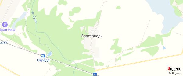 Карта хутора Апостолиди в Адыгее с улицами и номерами домов