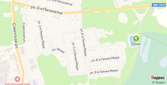 Улица Мира 6 Линия в Ликино-Дулево с номерами домов на карте. Спутник и схема онлайн