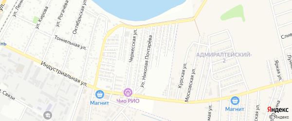 Улица Почтарёва Николая Федотовича на карте Яблоновского поселка Адыгеи с номерами домов