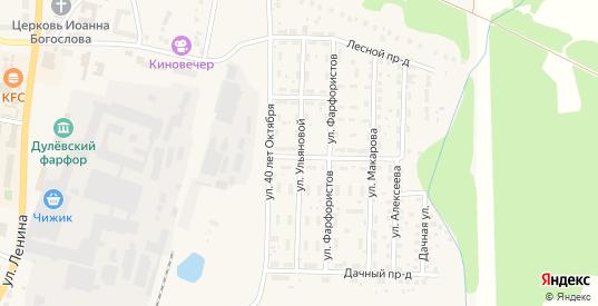 Улица М.И.Ульяновой в Ликино-Дулево с номерами домов на карте. Спутник и схема онлайн