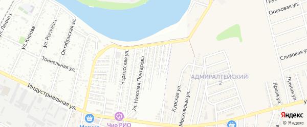 Адыгейская Набережная улица на карте Яблоновского поселка Адыгеи с номерами домов