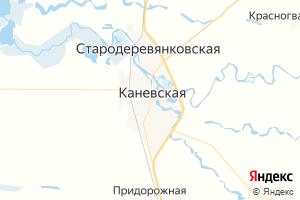 Карта ст. Каневская Краснодарский край