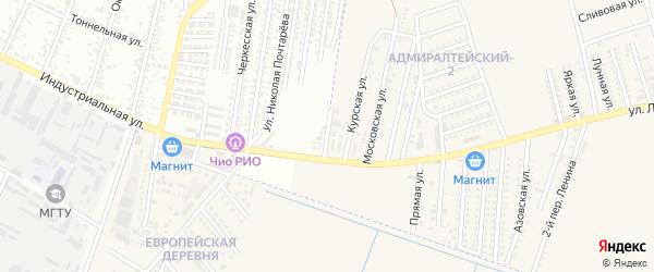 Ейская улица на карте аула Козет Адыгеи с номерами домов