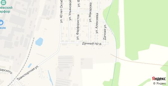 Дачный проезд в Ликино-Дулево с номерами домов на карте. Спутник и схема онлайн
