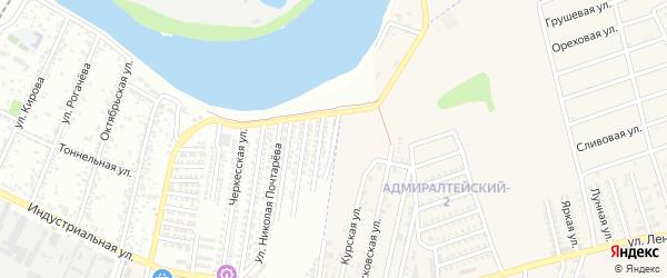 1-я Краснодарская улица на карте Яблоновского поселка Адыгеи с номерами домов