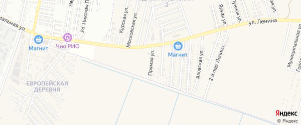 Прямая улица на карте аула Козет Адыгеи с номерами домов